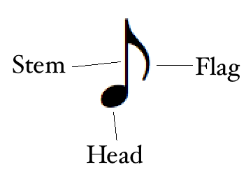 how to read music: the parts of the written note