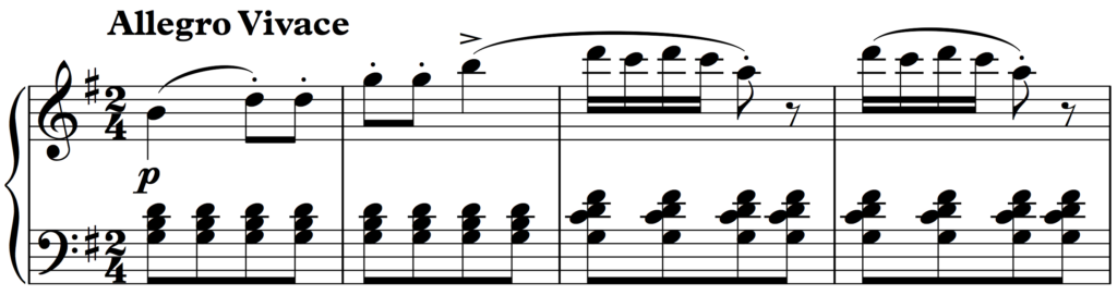 First phrase of Beethoven: Rondo a Capriccio Op. 129