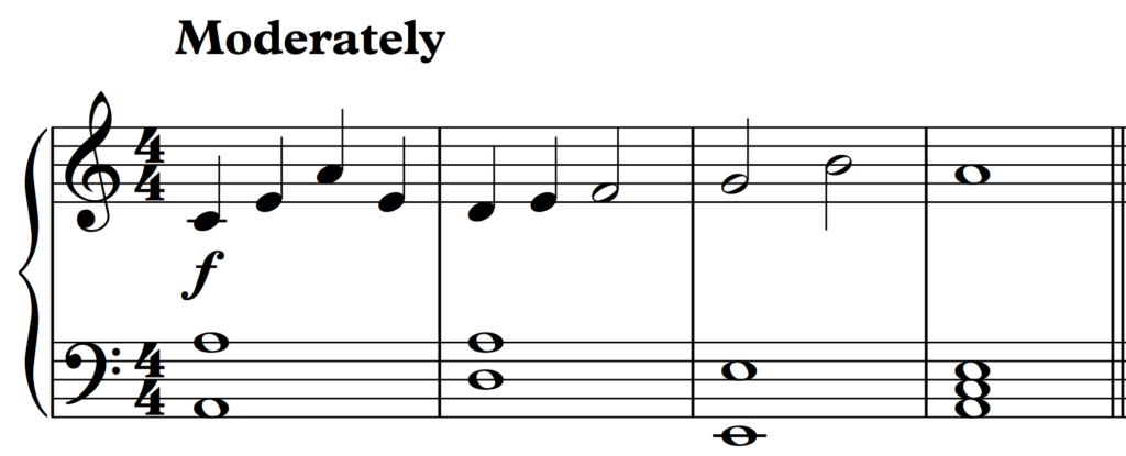 An simple idea in the key of A minor.