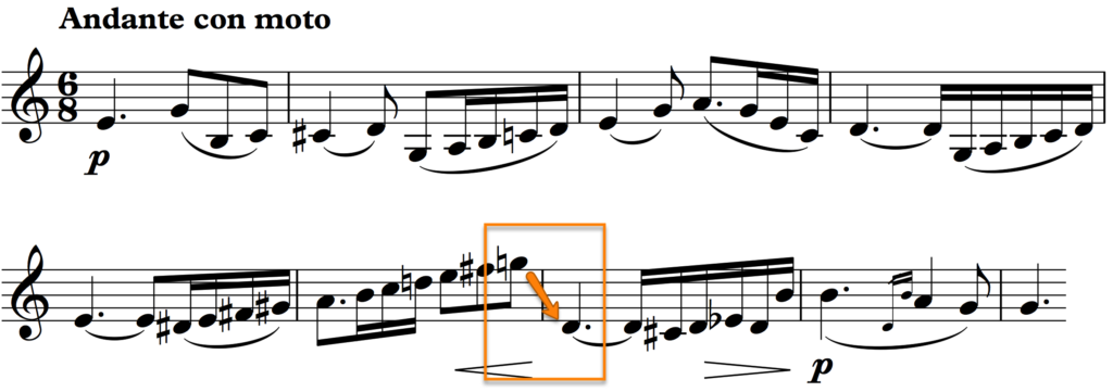 from Vieuxtemps: Violin Concerto no. 6, 2nd movement