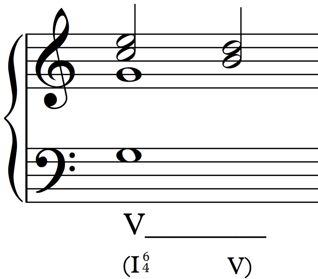 Cadential six-four labelling option 3 (combining the other two)