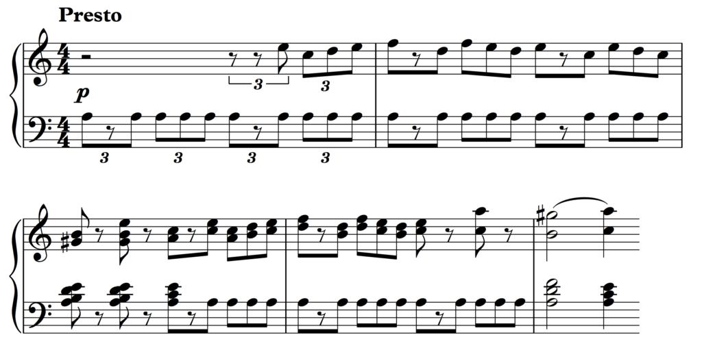 Mendelssohn: Symphony No. 4 - 4th movement theme in A minor