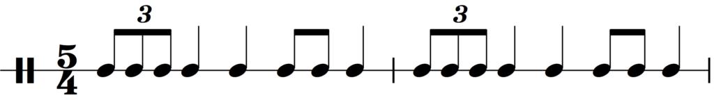 The rhythm from Holst's Mars