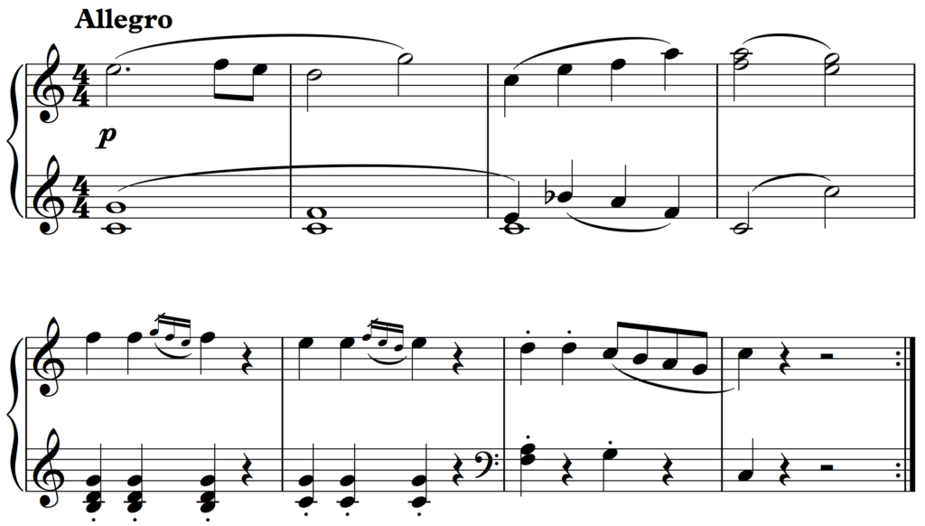 Haydn: No. 6 from 12 Easy Pieces for Piano