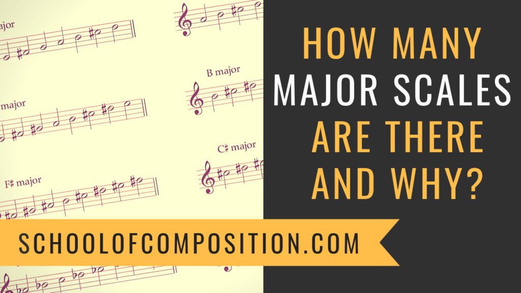 How many major scales are there and why