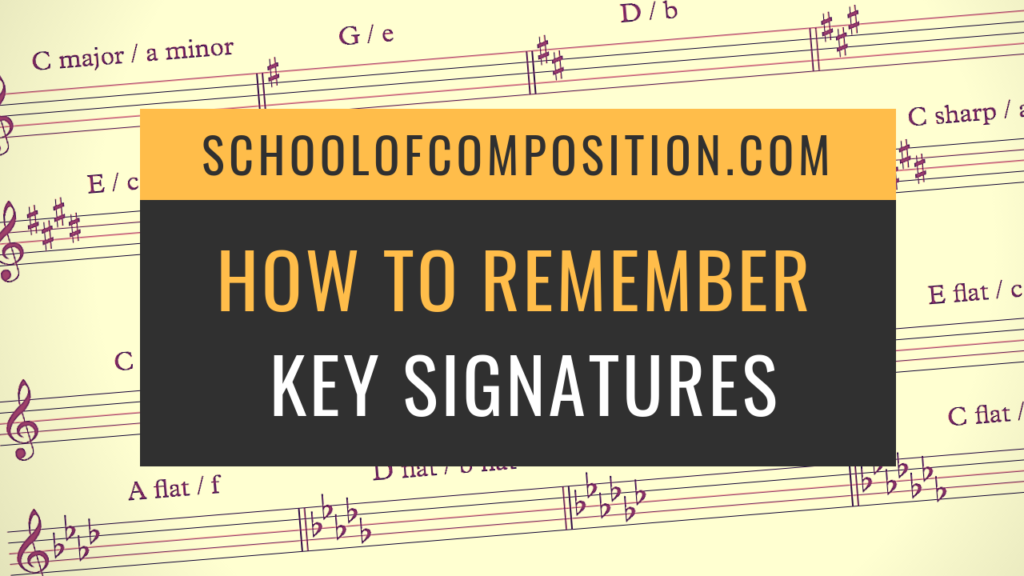 How to remember key signatures