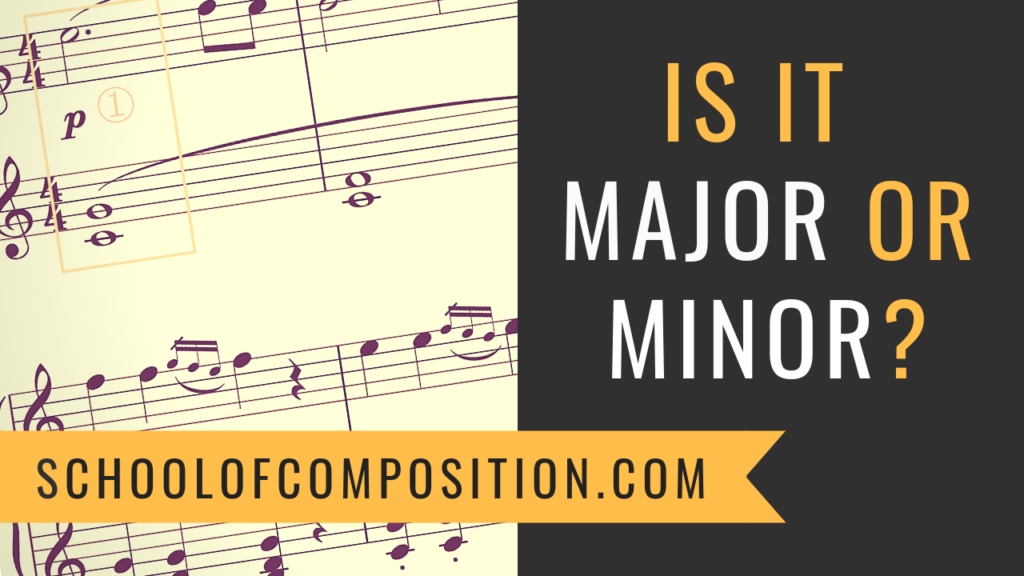 How to tell if a song is major or minor