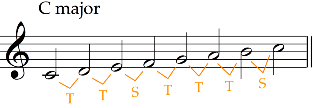 TTSTTTS = Major Scale Pattern (with alternative terms)