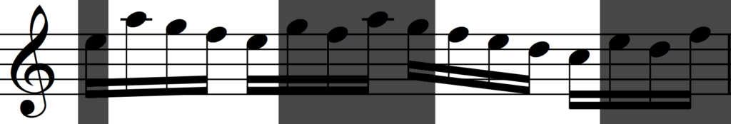 Motif 'a' inverted and transposed in Bach's Invention no. 1