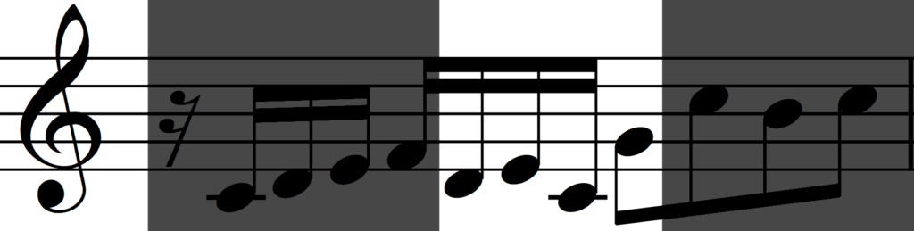 Original motif 'b' in Bach's Invention no. 1