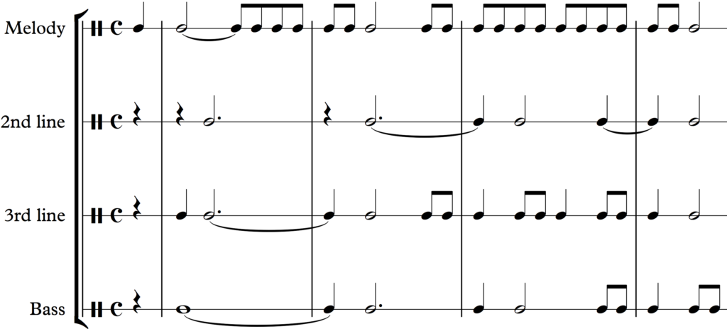 The individual rhythms of the parts of Schumann's Träumerei