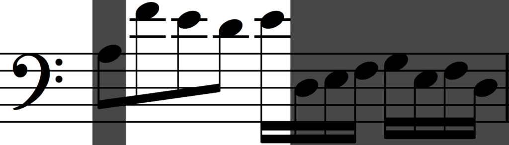 Motif c in retrograde from Bach's Invention no. 1