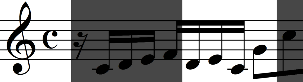 Motif 'b' from Bach Invention no 1