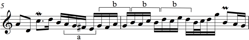 Sequence on motif 'b' in Bach's Invention no. 1
