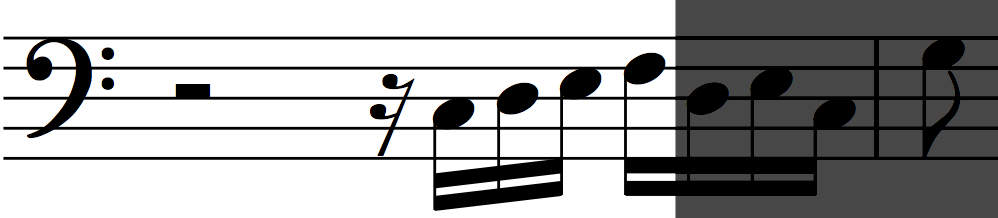 Motif 'a' an octave lower in Bach's Invention no. 1