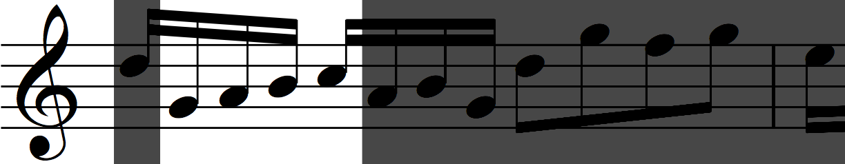 Motif 'a' transposed in Bach's Invention no. 1