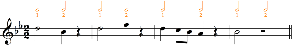 'How to Add Bar Lines' example 7 with rests