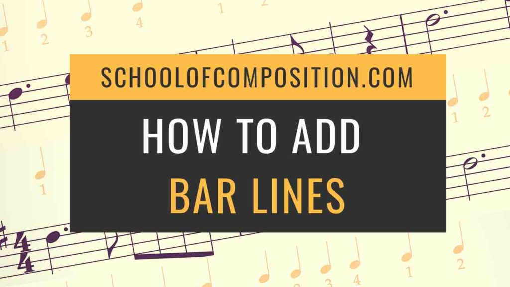 How to Add Bar Lines