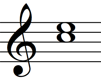 Major third interval (from C to E)